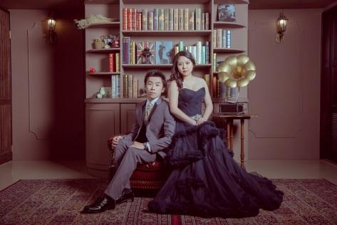 個性黑禮服婚紗照-台北婚攝JESS